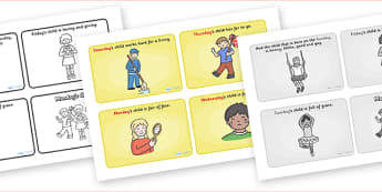 Monday's Child Sequencing (4 per A4) - Monday's Child, nursery rhyme, rhyme, rhyming, nursery rhyme story, nursery rhymes, days of the week, weekdays, Monday's Child resources, day