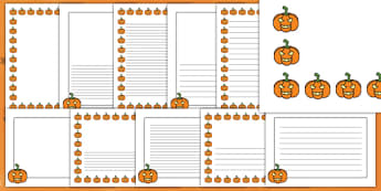 Halloween Pumpkin Page Border Pack
