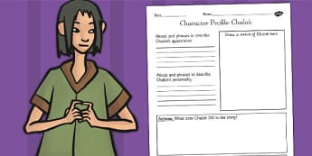 The Firework Maker's Daughter Chulak Character Profile Worksheet