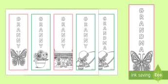 Granny/Grandma  Bookmarks - Grandparent's Day Pack, grandparents, granny, grandma, nan, nanny, nannan, relatives, family, relat