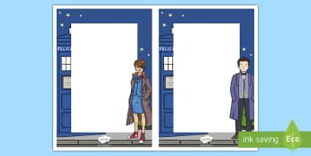 Space Time Traveller Themed Editable Notes - space, time traveller, doctor who, tardis, doctor, sonic screwdriver, time travel, wibbly wobbly, timey wimey, bowties, fez, fantastic, editable notes, editable, notes
