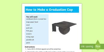 How to make a Graduation Cap Craft Instructions - graduation, cap, hat, craft, end of year,Irish