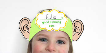 Good Listening Ear Head Bands - good listening, head bands, good listening head bands, ears, listening, listening head band, listen, ear head band