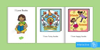 I Love Books Emergent Reader eBook - emergent reader, emergent readers, emergent reading books, emergent reading texts, sight word reader