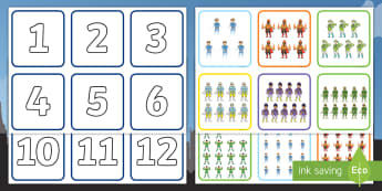 Superhero Themed 1 20 Number and Quantity Matching Cards - Superhero Themed 1-20 Number and Quantity Matching Cards - numeracy, numbers, subitising, matching,