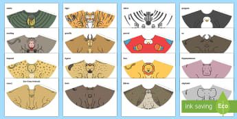 Zoo Cone Animals - EYFS, Early Years, Dear Zoo, Rod Campbell, animals, letter to the zoo, EAD, Expressive Arts and Desi