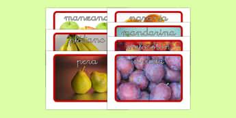 La fruta Tarjetas de vocabulario