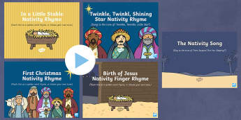 Nativity Songs and Rhymes PowerPoints Pack
