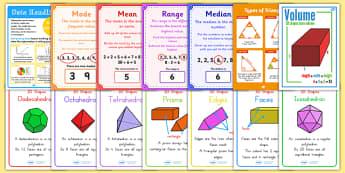 KS2 Maths Bumper Display Pack - ks2, maths, bumper, display, pack