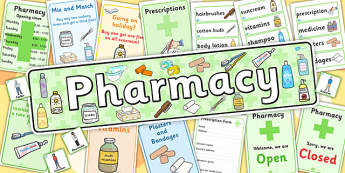 Pharmacy Role Play Pack - roleplay, doctors, pharmacy, pack