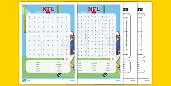 NFL Word Search - usa, nfl, national football league, american football, word search