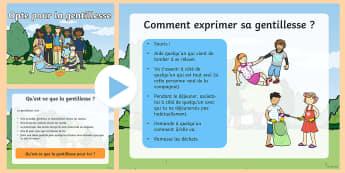 PowerPoint : La semaine de la gentillesse - la semaine de la gentillesse de Twinkl, la gentillesse parmi les élèves, les ressources de gentill