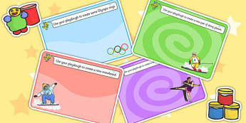 Winter Olympics Playdough Mats - olympic, fine motor skill, sport
