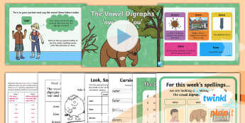 PlanIt English Y1 Term 3A W1: Vowel Digraphs 'ow' and 'ou' Spelling Pack - Spellings Year 1, Term 3A, W1, digraph, ou, ow, vowel digraph, alternative spelling, alternative sou