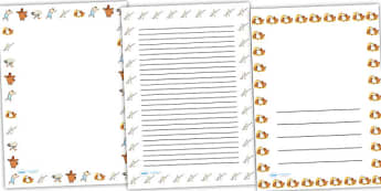 Farmer Duck Page Borders - farmer duck, page borders, writing frames, lined pages, writing aid, themed page borders, farmer duck writing frames, lined