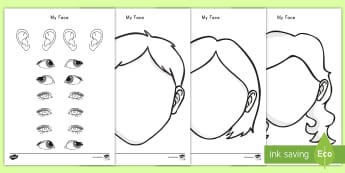 Blank Faces Templates Activity Sheet  - faces, templates, craft, coloring, ourselves, worksheet