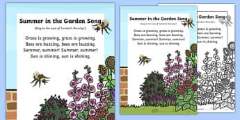 Summer in the Garden Song
