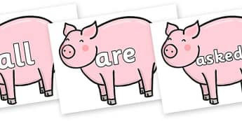 Tricky Words on Chinese New Year Pig - Tricky words, DfES Letters and Sounds, Letters and sounds, display, words