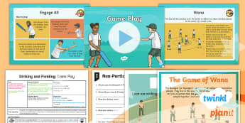 PE: Striking and Fielding: Game Play Year 3 Lesson Pack 5