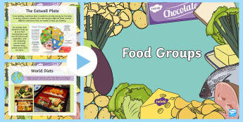Food Groups powerPoint - - food groups, eatwell pate, cuisine, healthy eating, nutrition