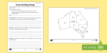 Australian States and Territories – Great Dividing Range Information Report - Year 3, Year 4, Year 5, Year 6, ACHASSK066, Australian Curriculum, Geography, language, Vocabulary,