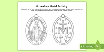 Miraculous Medal Activity - RE craft activity, immaculate conception, Our Lady, St Catherine Labouré, Mary, RE display,Scottish