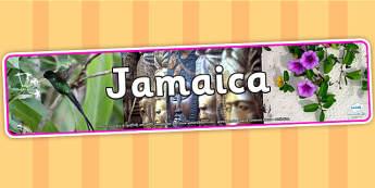 Jamaica Photo Display Banner - Jamaica, Display Banner, Banner, Jamaican Banner, Jamaican Display Banner, Display, Themed Banner, Photo Banner