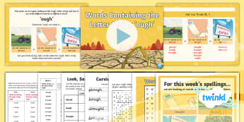 PlanIt Spelling Year 5 Term 3A W2: Words Containing the Letter String 'ough' Spelling Pack - Spellings Year 5, Y5, spelling, spag, gps, ough, ough words, spelling rule, statutory, appendix 1, l