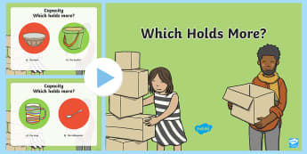 Which Holds More? PowerPoint -  Mathematics, Foundation Year, Measurement and Geometry,  Using units of measurement, ACMMG006, capa