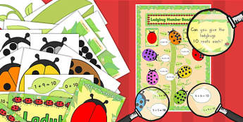 Ready Made Ladybug Themed Number Bonds to 10 Activity and Display Pack