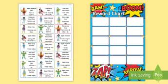 Superhero Themed Characteristics of Effective Learning Sticker Reward Chart - Superhero Themed Characteristics of Effective Learning Sticker Reward Chart - superhero, stickers, s