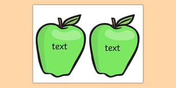 Editable Green Apples - green, granny smiths, apple, fruit, display, tree, ks1, ks2,
