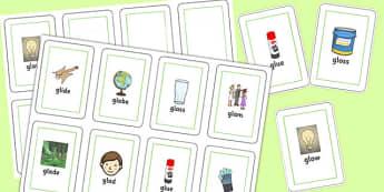 GL Sound Flash Cards - gl sound, sound, gl, flash cards, flash, cards
