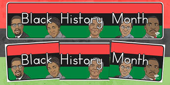 Black History Month Display Banner - usa, black history, history, history month
