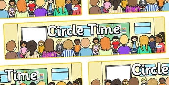 Circle Time Display Banner - Circle time, PSHE, SEAL, carpet time, circle, display banner, display