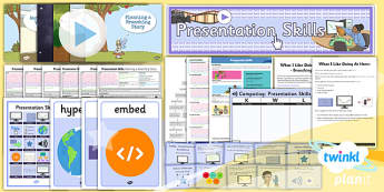 PowerPoint Presentation Skills: Unit Pack - Year 3 Computing Lesson Pack