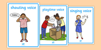 Types of Voice Display Posters - types of voice, singing, speaking, whispering, listening, music