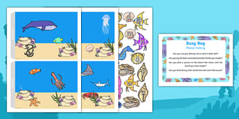 Phonic Fishing Busy Bag Prompt Card and Resource Pack