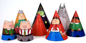 Traditional Tales Cone Characters - traditional tales, craft, art