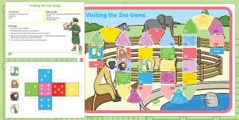 Visiting the Zoo Board Game - Dear Zoo, Rod Campbell, animals, letter to the zoo, psed, personal social emotional development, gam