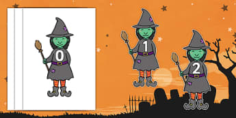 Halloween Witches 0-30 Display Numbers
