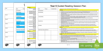 Year 5 Guided Reading Planning Template - literacy, language, literature, australian curriuclum, year 5, guided reading, reading.,Australia