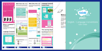 PlanIt Australian Curriculum Language Conventions User Guide - Language Conventions User Guide-Australia