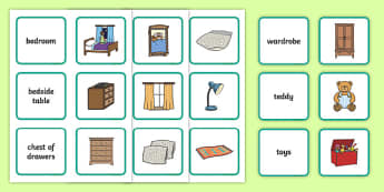 Home Words Matching Cards - home, words, matching, match, cards, activity, houses, human geography