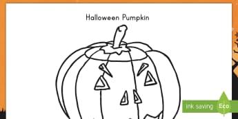 Halloween Pumpkin Coloring Activity - Halloween, color, coloring, autumn, fall, harvest, pumpkin