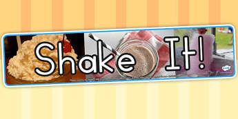 Shake It Photo Display Banner - milk shake, food, drinks
