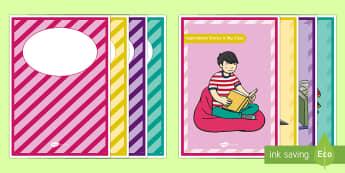 Binder of Inspiration Activity - Teacher De-Stress Pack, inspire, encourage, happy, binder, dividers, work, art.