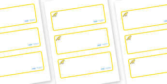Canary Themed Editable Drawer-Peg-Name Labels (Blank) - Themed Classroom Label Templates, Resource Labels, Name Labels, Editable Labels, Drawer Labels, Coat Peg Labels, Peg Label, KS1 Labels, Foundation Labels, Foundation Stage Labels, Teaching Label