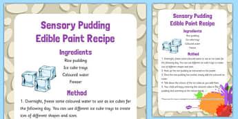 Sensory Pudding Edible Paint Recipe - sensory, pudding, edible, paint, recipe