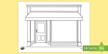 Doodle Draft Shop Front Activity Sheet